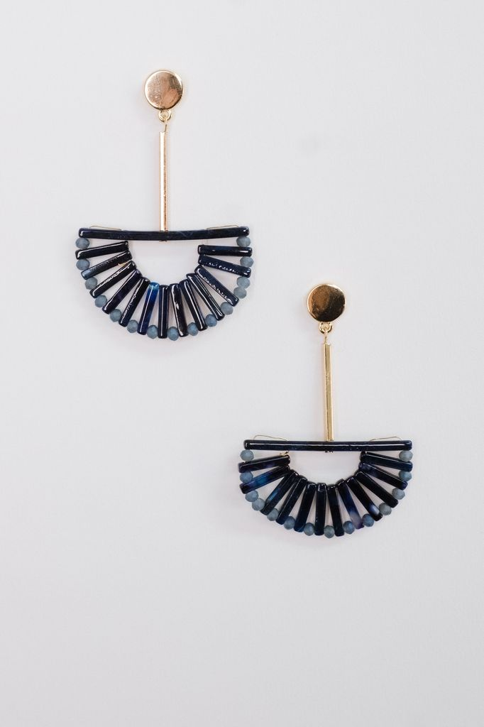 Trend Beaded Fan Drop Earrings