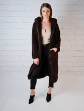 Long Sherpa Hooded Jacket