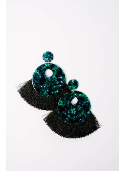 Trend Fringe End Acetate Earrings
