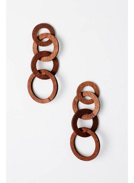 Trend Wooden Chain Earrings