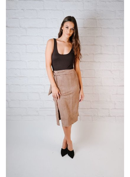 Skirt Mocha Suede Midi