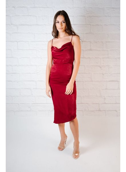 Midi Wine Slipdress