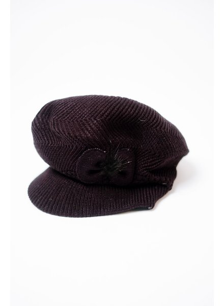 Hat Knit Cabby Hat