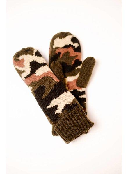 Gloves Camo Mittens