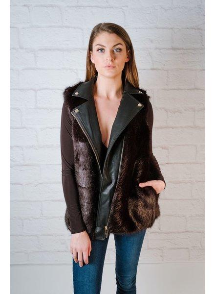 Vest Moto Faux Fur Vest