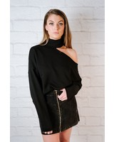 Sweater Choker Neck Sweatshirt