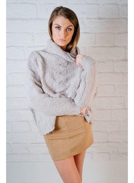 Sweater Sky Cable Turtleneck
