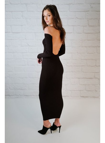 Maxi Ribbed Cut-Out Back Maxi