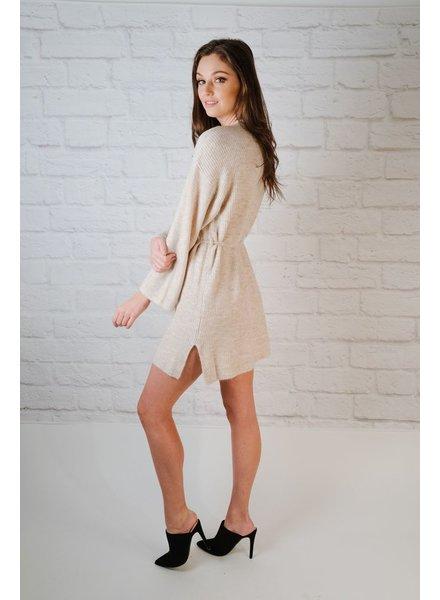Knit Oatmeal Sweater Dress