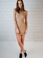 Mini Mock Neck Knit Dress