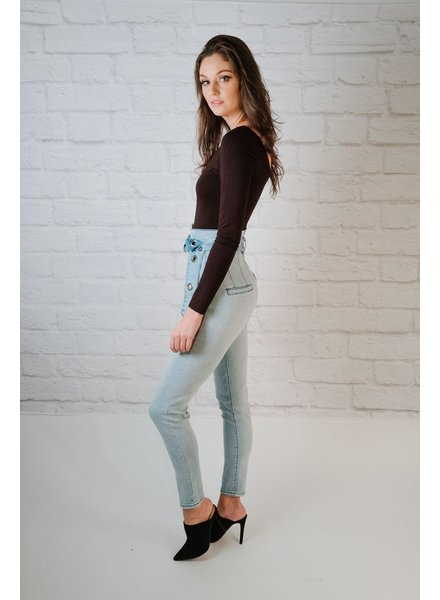 Jeans High Rise Belted Jeans
