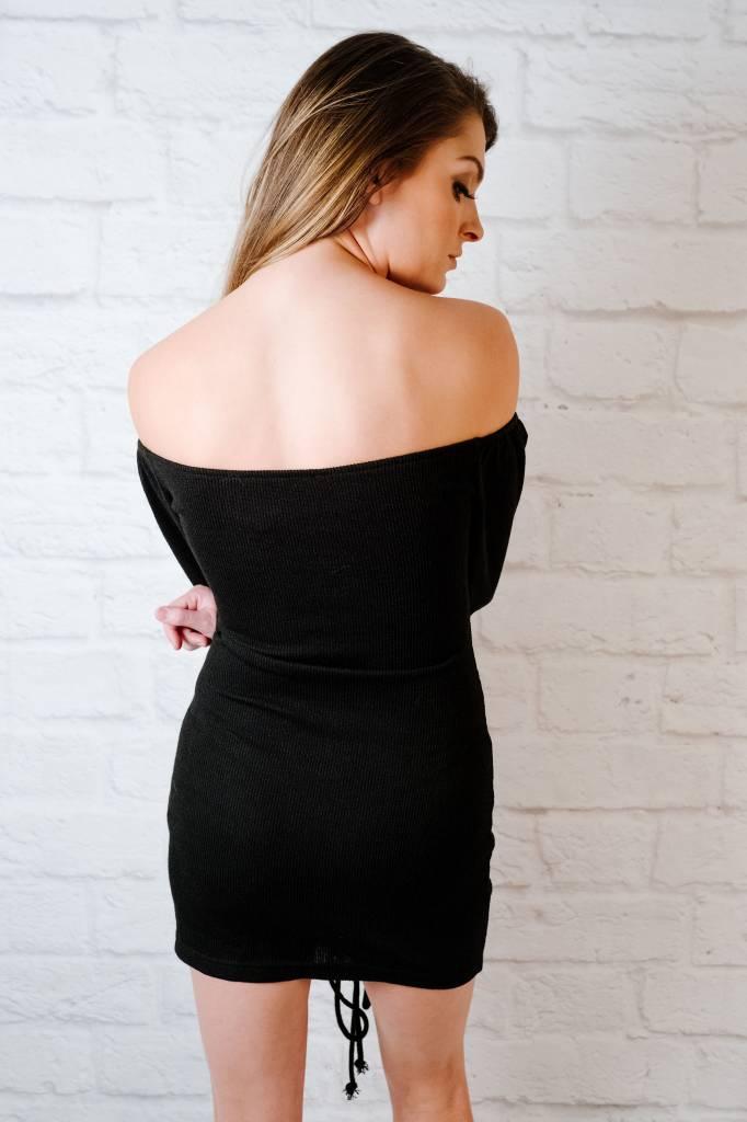 Mini Rouched Knit Dress