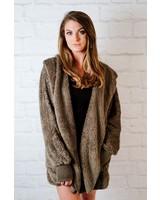 Lightweight Hooded Open Fleece