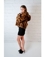 Lightweight Faux Fur Hooded Jacket