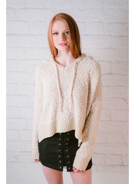 Sweatshirt Boucle Drawstring Hoodie