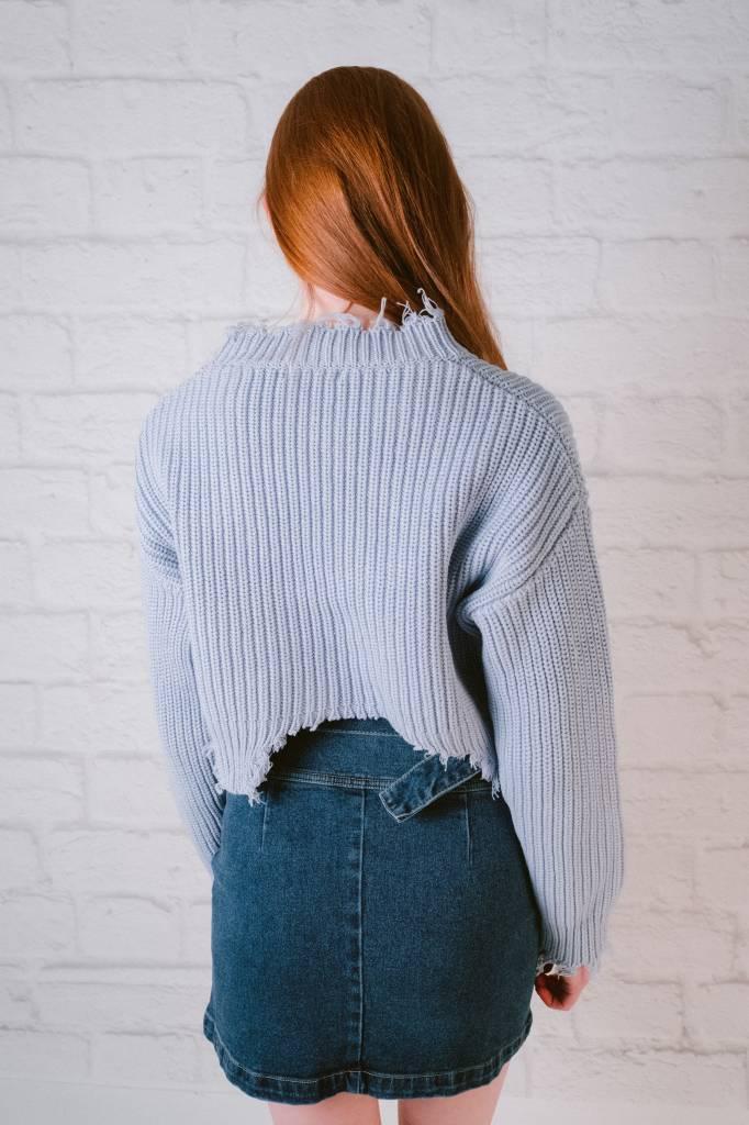 Sweater Fringe Hem Sweater