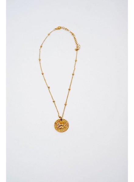 Short Lion Pendant Necklace