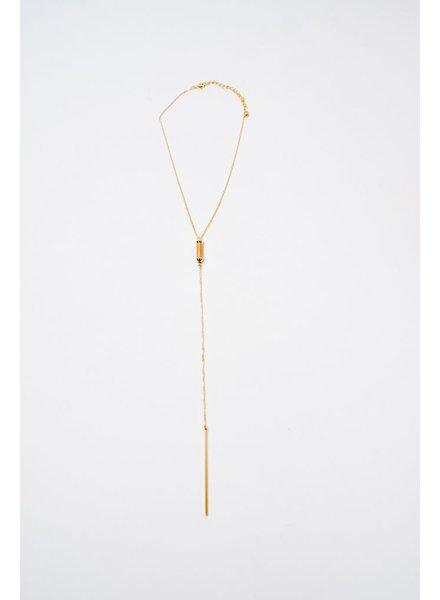 Long Gold Multi Bar Necklace