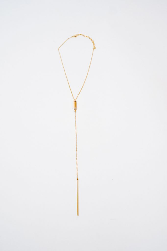 Long Gold Multi Bar Necklace