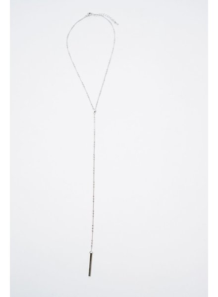 Long Y Style Bar Necklace