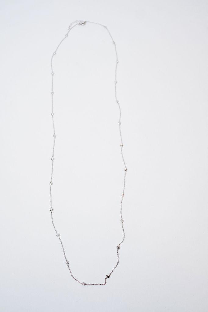 Long Bejeweled Rhinestone Necklace