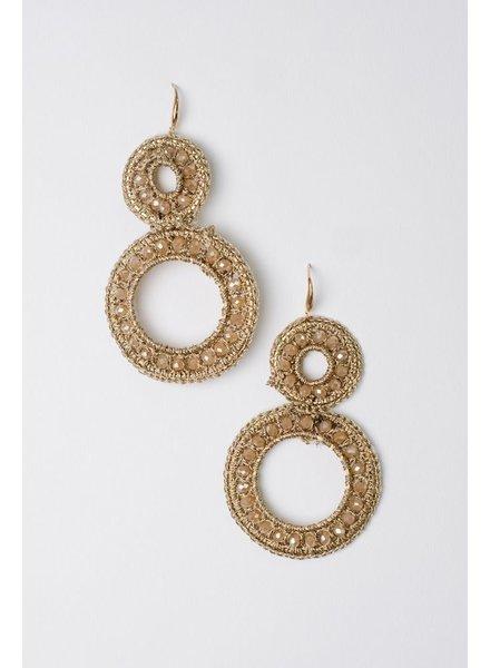 Dressy Beaded Circle Earrings