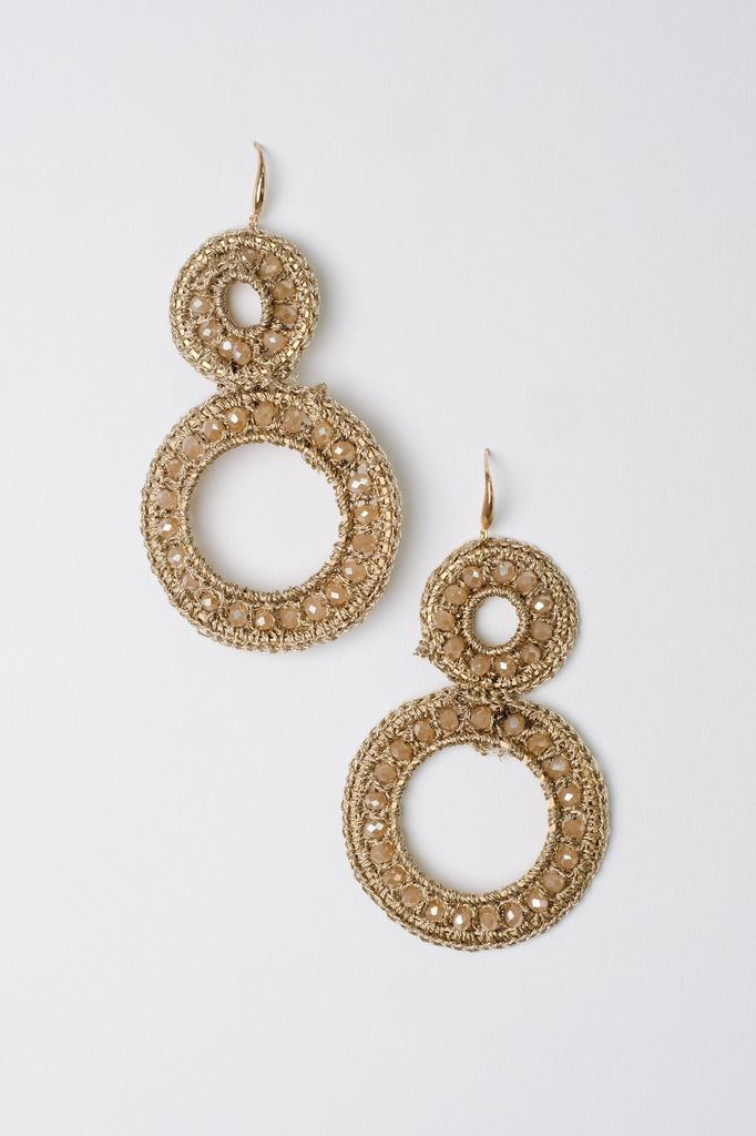 Dressy Beaded Circle Earrings