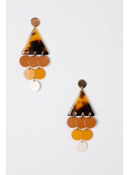 Trend Triangle Dangle Earrings