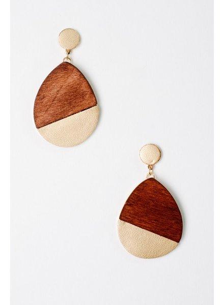 Trend Two-Tone Teardrop Earrings