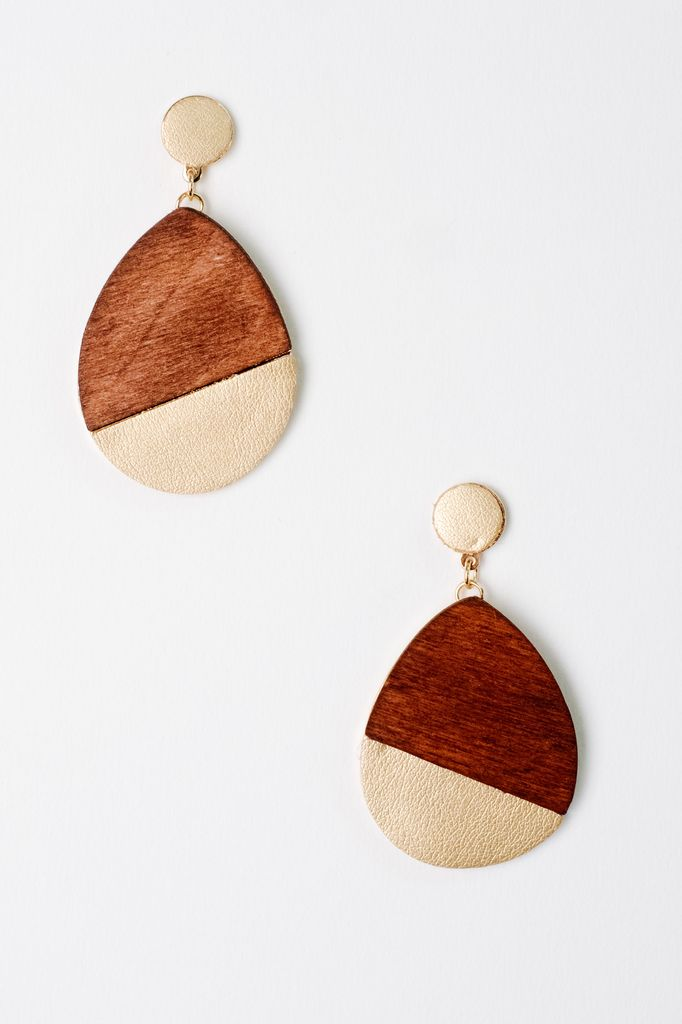 Trend Two-Tone Teardrop Earrings