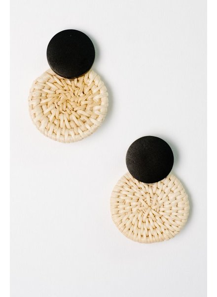 Trend Wicker Disk Earrings