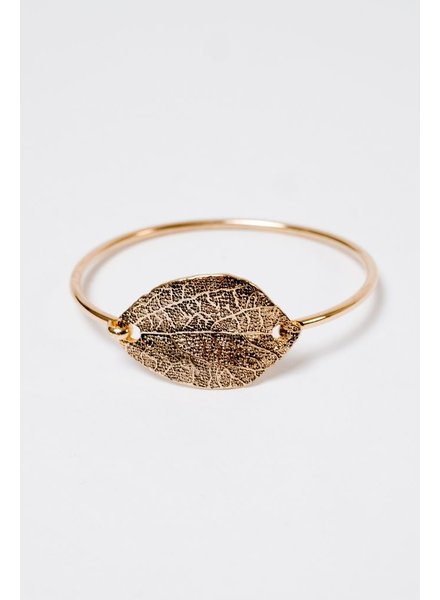 Dressy Leaf Statement Bracelet