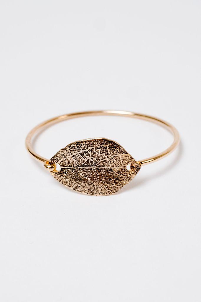 Dressy Leaf Statement Bracelet
