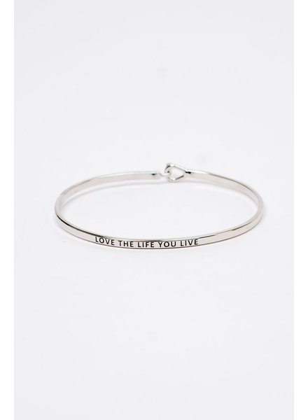 Trend Love The Life You Live Bangle