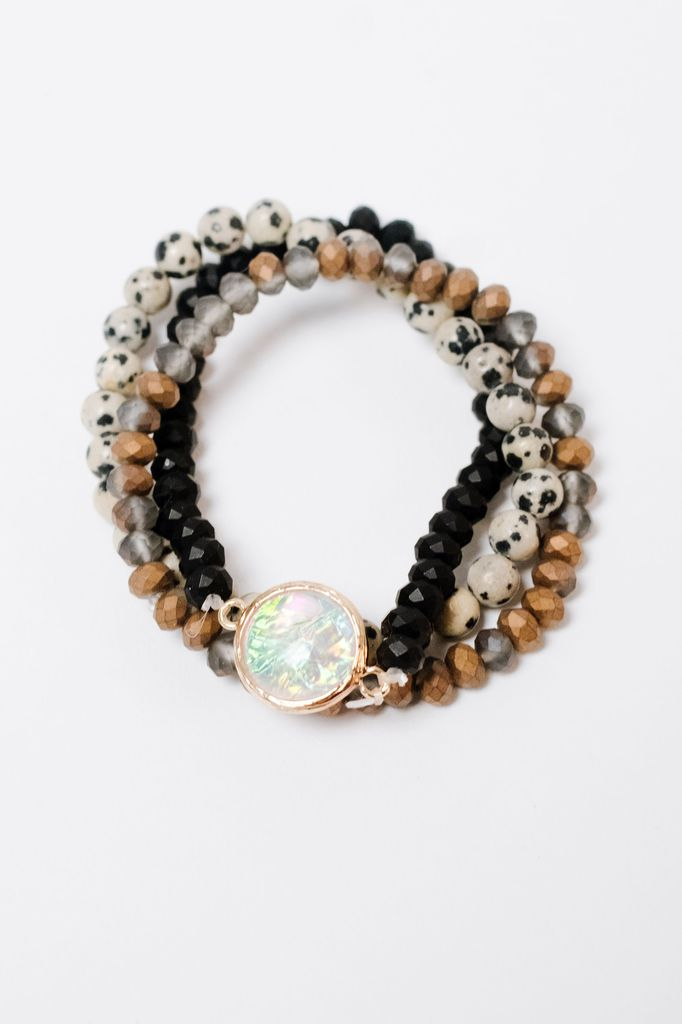 Stone Translucent Stone Bracelet Set