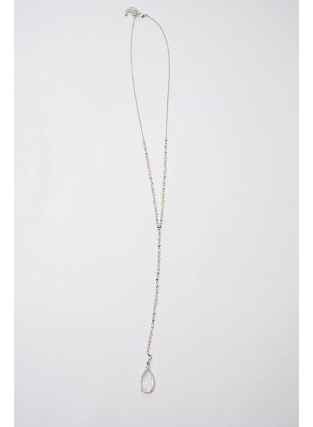 Long Teardrop Stone Necklace
