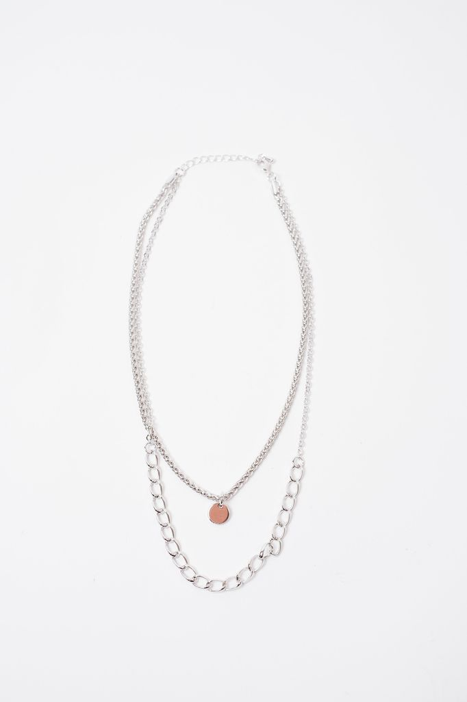 Short Layered Multi Chain Necklace