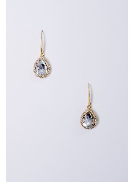 Dressy Rhinestone Teardrop Earrings