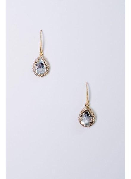 Dressy Rhinestone Teardrop Earrings