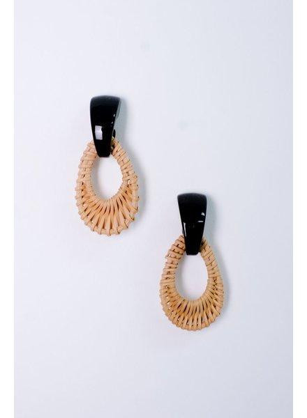 Trend Wicker Teardrop Earrings