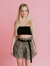 Shorts Highwaisted Leopard Shorts