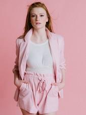 Shorts Pink Linen Shorts