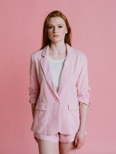Blazer Pink Linen Blazer