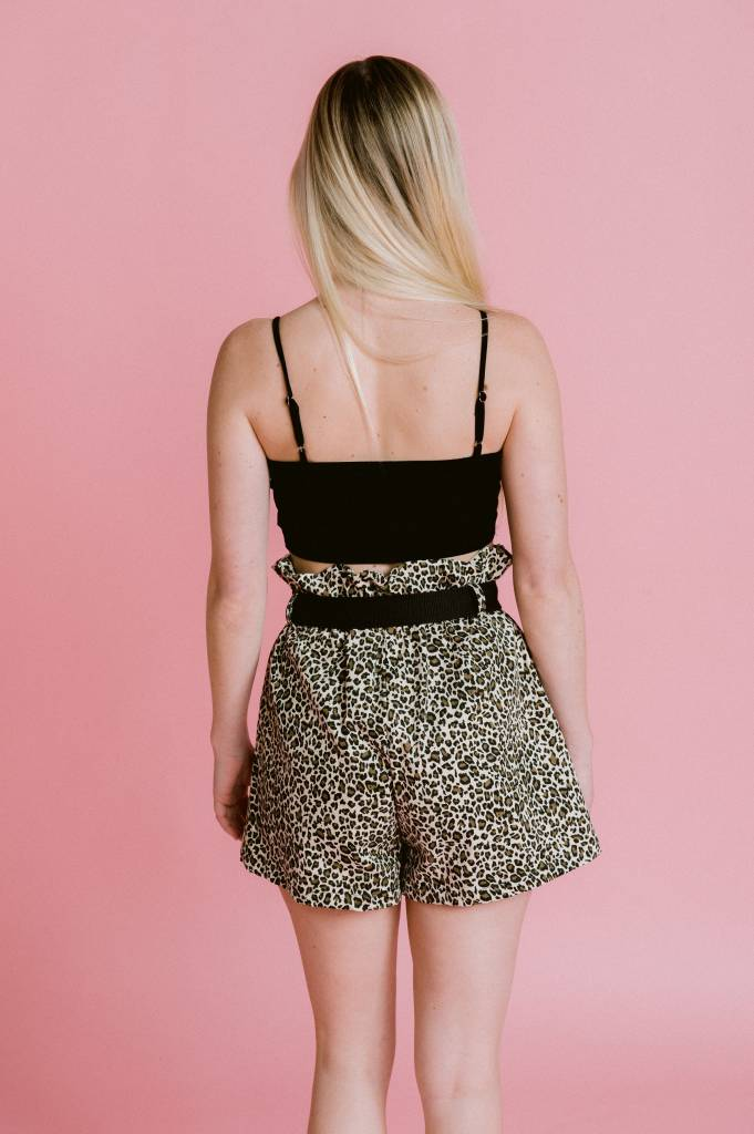 Shorts Highwaisted Leopard Shorts