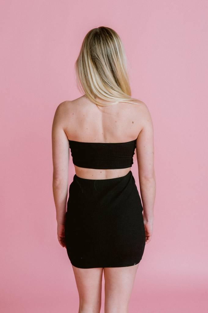 Skirt Ribbed Mini Skirt