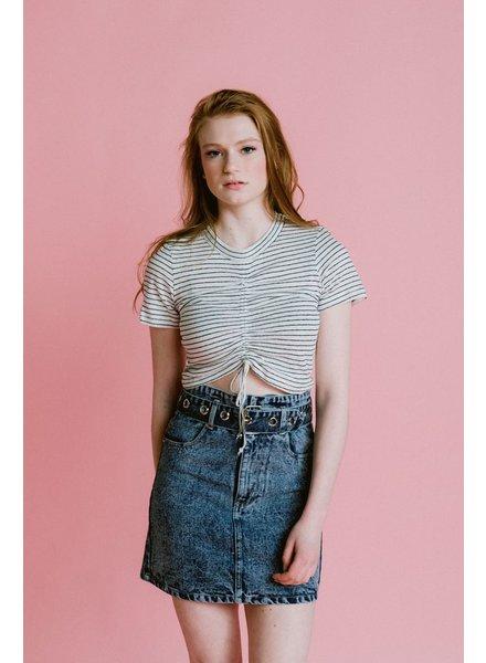 Skirt Acid Wash Denim Skirt