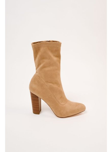 Bootie Tan Midi Boot