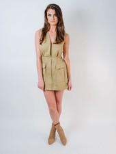 Mini Beige Cargo Dress