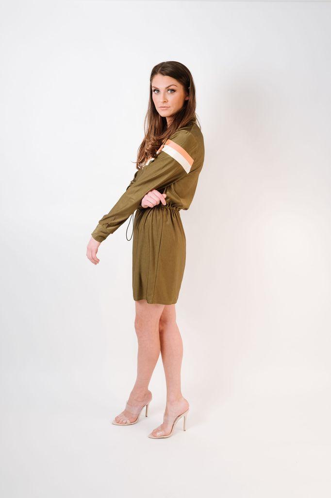 Mini Olive Athleisure Dress