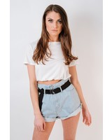 T-shirt White Banded Tee